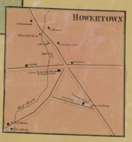 Howertown - Northampton Co., Pennsylvania 1860 Old Town Map Custom Print - Northampton Co.