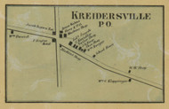 Kreidersville PO - Northampton Co., Pennsylvania 1860 Old Town Map Custom Print - Northampton Co.