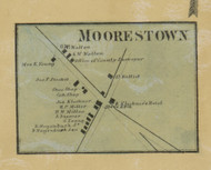 Moorestown - Northampton Co., Pennsylvania 1860 Old Town Map Custom Print - Northampton Co.