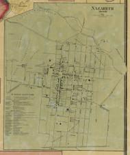 Nazareth - Northampton Co., Pennsylvania 1860 Old Town Map Custom Print - Northampton Co.