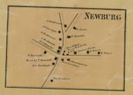 Newburg - Northampton Co., Pennsylvania 1860 Old Town Map Custom Print - Northampton Co.