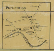 Petersville - Northampton Co., Pennsylvania 1860 Old Town Map Custom Print - Northampton Co.