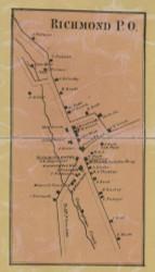 Richmond PO - Northampton Co., Pennsylvania 1860 Old Town Map Custom Print - Northampton Co.