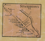 Sockertown PO - Northampton Co., Pennsylvania 1860 Old Town Map Custom Print - Northampton Co.