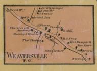 Weaversville PO - Northampton Co., Pennsylvania 1860 Old Town Map Custom Print - Northampton Co.