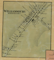 Williamsburg (Mount Bethel PO) - Northampton Co., Pennsylvania 1860 Old Town Map Custom Print - Northampton Co.