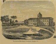 Farmers & Mechanics Institute - Easton Township, Pennsylvania 1860 Old Town Map Custom Print - Northampton Co.