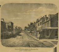 Northampton St. - Easton Township, Pennsylvania 1860 Old Town Map Custom Print - Northampton Co.