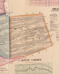Mount Carmel Township, Pennsylvania 1858 Old Town Map Custom Print - Northumberland Co.