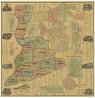 Towns on Source Map - Northumberland Co., Pennsylvania 1874 - NOT FOR SALE - Northumberland Co.