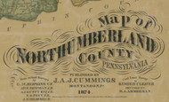 Title of Source Map - Northumberland Co., Pennsylvania 1874 - NOT FOR SALE - Northumberland Co.