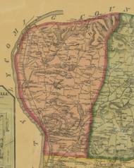 Delaware Township, Pennsylvania 1874 Old Town Map Custom Print - Northumberland Co.