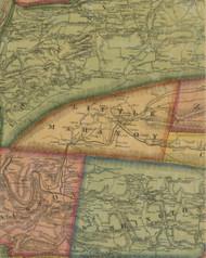 Little Mahanoy Township, Pennsylvania 1874 Old Town Map Custom Print - Northumberland Co.