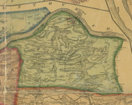 Rush Township, Pennsylvania 1874 Old Town Map Custom Print - Northumberland Co.