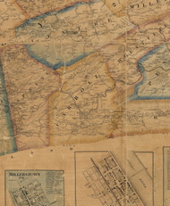 Carroll Township, Pennsylvania 1863 Old Town Map Custom Print - Perry Co.