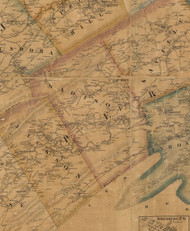 Madison Township, Pennsylvania 1863 Old Town Map Custom Print - Perry Co.