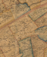 Saville Township, Pennsylvania 1863 Old Town Map Custom Print - Perry Co.
