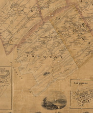 Toboyne Township, Pennsylvania 1863 Old Town Map Custom Print - Perry Co.