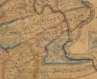 Wheatfield Township, Pennsylvania 1863 Old Town Map Custom Print - Perry Co.
