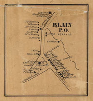 Blain - Perry Co., Pennsylvania 1863 Old Town Map Custom Print - Perry Co.