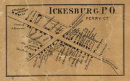 Ickesburg - Perry Co., Pennsylvania 1863 Old Town Map Custom Print - Perry Co.