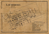 Landisburg - Perry Co., Pennsylvania 1863 Old Town Map Custom Print - Perry Co.