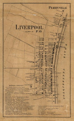 Liverpool and Perryville - Perry Co., Pennsylvania 1863 Old Town Map Custom Print - Perry Co.
