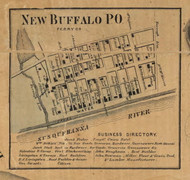 New Buffalo - Perry Co., Pennsylvania 1863 Old Town Map Custom Print - Perry Co.
