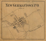 New Germantown - Perry Co., Pennsylvania 1863 Old Town Map Custom Print - Perry Co.