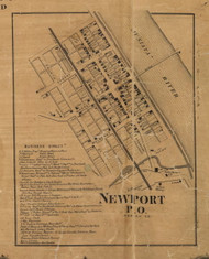 Newport - Perry Co., Pennsylvania 1863 Old Town Map Custom Print - Perry Co.
