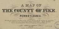 Title of Source Map - Pike Co., Pennsylvania 1856 - NOT FOR SALE - Pike Co