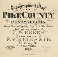 Title of Source Map - Pike Co., Pennsylvania 1872 - NOT FOR SALE - Pike Co.