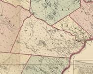 Dingman Township, Pennsylvania 1872 Old Town Map Custom Print - Pike Co.
