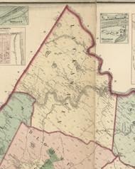 Lackawaxen Township, Pennsylvania 1872 Old Town Map Custom Print - Pike Co.