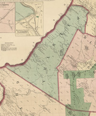 Palmyra Township, Pennsylvania 1872 Old Town Map Custom Print - Pike Co.