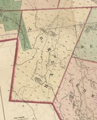 Porter Township, Pennsylvania 1872 Old Town Map Custom Print - Pike Co.