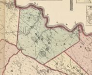 Shohola Township, Pennsylvania 1872 Old Town Map Custom Print - Pike Co.
