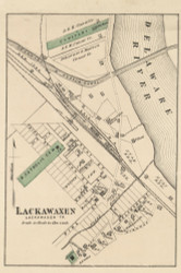 Lackawaxen Village - Lackawaxen Township, Pennsylvania 1872 Old Town Map Custom Print - Pike Co.