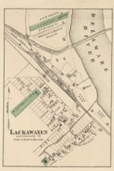Lackawaxen Village - Lackawaxen Township, Pennsylvania 1872 Old Town Map Custom Print - Pike Co.