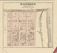 Masthope - Lackawaxen Township, Pennsylvania 1872 Old Town Map Custom Print - Pike Co.