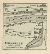 Millville - Lackawaxen Township, Pennsylvania 1872 Old Town Map Custom Print - Pike Co.