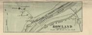 Rowland - Lackawaxen Township, Pennsylvania 1872 Old Town Map Custom Print - Pike Co.
