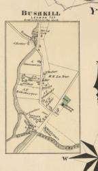 Bushkill - Lehman Township, Pennsylvania 1872 Old Town Map Custom Print - Pike Co.