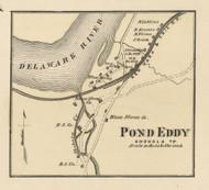 Pond Eddy - Shohla Township, Pennsylvania 1872 Old Town Map Custom Print - Pike Co.