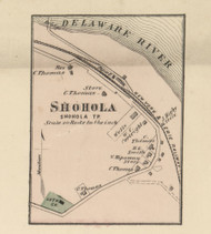 Shohola Village - Shohla Township, Pennsylvania 1872 Old Town Map Custom Print - Pike Co.