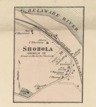 Shohola Village - Shohla Township, Pennsylvania 1872 Old Town Map Custom Print - Pike Co.