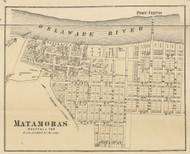 Matamoras - Westfall Township, Pennsylvania 1872 Old Town Map Custom Print - Pike Co.
