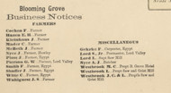 Blooming Grove Business Notices - Blooming Grove Township, Pennsylvania 1872 Old Town Map Custom Print - Pike Co.
