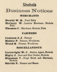 Shohola Business Directory - Shohla Township, Pennsylvania 1872 Old Town Map Custom Print - Pike Co.