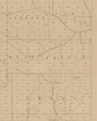West Branch Township, Pennsylvania 1856 Old Town Map Custom Print - Potter Co.